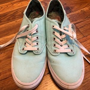 Turquoise & floral Vans Sneakers